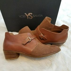 Yosi Samra suede leather ankle boots